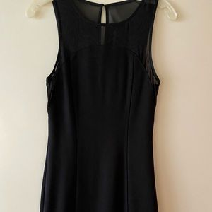 Express mesh trim dress